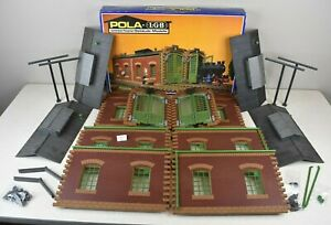 (Lot #947) G Scale LGB Pola Model Train Building 911 Double Engine Shed Used
