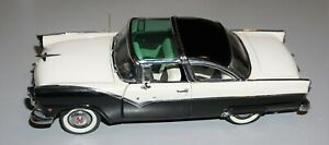 1955 Ford Crown Victoria Black White 1/24 Danbury Mint Diecast Very Nice!