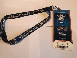 Oklahoma City Thunder Lanyard NBA 2014 Courtside Ticket Cleveland Cavaliers