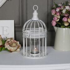 Small ornate antique white birdcage candle holder vintage shabby chic wedding
