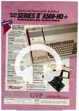 (-0-) RARE AMIGA SERIES II A500 HD+ GAME MAGAZINE ADVERT TRUSTED SELLER