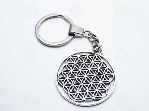 Flower of Life Key/ring Keychain Sacred Geometry Aura Gift Tree of Life Yoga UK