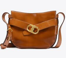 NEW Tory Burch Gemini Link Patent Leather Cross-Body Bag NWT $498 Amber Color