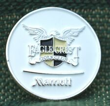 "RARE_Limited Edition_ EAGLE CREST GC Marriott  1"" Ni-Silver Plated Ball Marker"