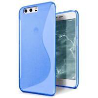 Handy Hülle für Huawei P10 Plus Silikon Case Slim Cover Schutz Hülle Tasche Blau