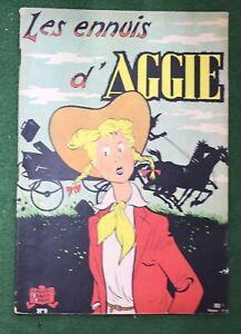 Les ennuis d' AGGIE #6 Golden Age 1950s  French Comic Strip Aggie Mack vg l#1