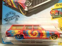 2019 HOT WHEELS /'/'HW ART CARS/'/' #188 = `64 CHEVY NOVA WAGON = RED int