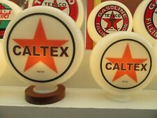 Caltex Vintage Style Glass Petrol Pump Globes Gas Pump Globe Milk Glass