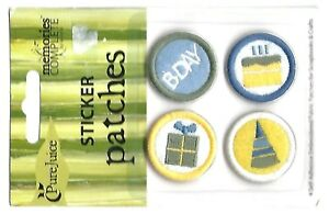 BIRTHDAY Embroidered Fabric Patch Stickers - Scrapbook Craft Embellishment