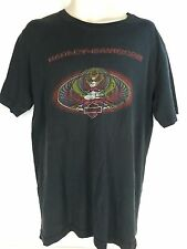 Harley Davidson T-Shirt Black Men's Large L Texas USA Made Tail Pipes