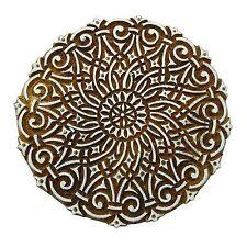 Holzdruckstöcke Indische Hand geschnitzte Textilgewebe Briefmarken 9903