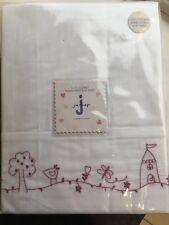 Jasper Conran Junior Embroidered Flat Cot Sheet. BNWT