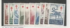 Finland, Postage Stamp, #B135-B144 Mint LH, 1956 Animals, Birds