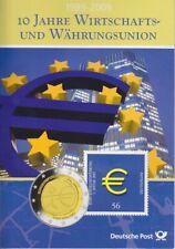 BRD 5x 2 EURO 2009 ADFGJ im Folder 10 Jahre Währungsunion, Münzen, Coin