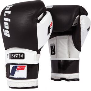 Fighting Sports S2 Gel Boxing Power Sparring Gloves - Black/White