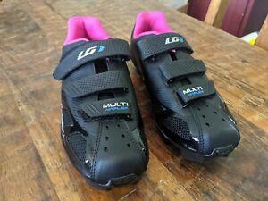 Women's Louis Garneau Multi Air Flex Bike Shoes, HRS-80, Black-Pink size 6 / 6.5