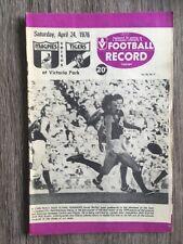 1976 VFL AFL football record Collingwood Magpies V Richmond Tigers April 24