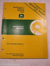 John Deere Maxemerge Operator'S Manual 2 Plateless Metering Units Om-A50319