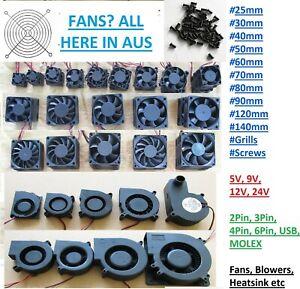 5V 9V 12V 24V 2 3 4 Pin 40mm 50mm 60mm 90mm 10mm CPU Printer Cooling Blower Fan