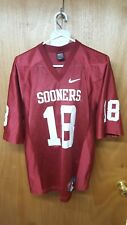 OKLAHOMA Sooners NCAA NIKE Mens S Small Length+2 Red Jersey  18 stitched 8409e055c