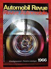 BROCHURE AUTOMOBIL REVUE DEPLIANT 1966