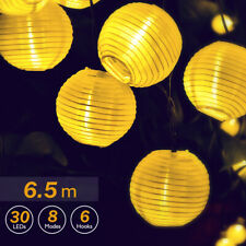 LED Solar Powered Chinese Lantern Fairy String Lights Garden Patio Outdoor Party