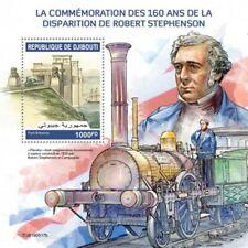 Djibouti - 2019 Robert Stephenson & Trains - Stamp Souvenir Sheet - DJB190517b