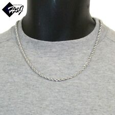 """20""""MEN's Stainless Steel 3.5mm Silver Smooth Rope Chain Necklace"""