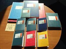 Notiz Kladde Notizbuch A5 u. A4 m. Register A-Z liniert,kariert ,48,96,144 Blatt