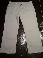 NWT: BANANA REPUBLIC Classic Fit, White Capri Jeans with Stretch , 12