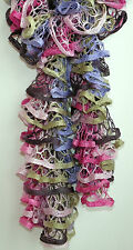 Handmade Knitted Frilly Starbella Boa Scarf; Color: Birthday Cake
