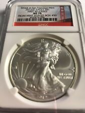 2012 (S) Silver American Eagle NGC MS70 Struck San Francisco Mint sealed Box #50