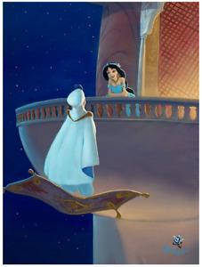 Disney Fine Art Limited Edition Canvas Falling for Aladdin-Rob Kaz