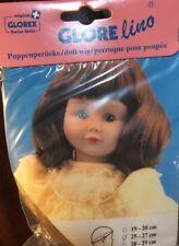 NEW Glorex Glorelino 25-27cm 10-10.5 Inches Blonde W/ Bangs Doll Wig Switzerland