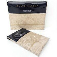RALPH LAUREN Fleur Du Roi 2pc TWIN DUVET COVER & SHAM Paisley Floral GOLD BRONZE