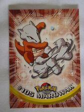 #105 Marowak - 2000 Topps Pokemon Series 2 Official Trading Card Mint