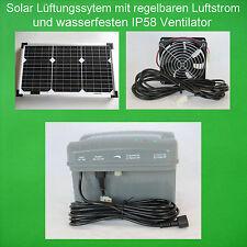20 Watt Solarlüfter Solar Axial Lüfter Solarventilator Ventilator Akku Batterie