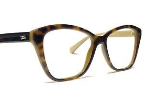 Dolce & Gabbana DG3249 2956 Womens Tortoise Cat's Eye Rx Eyeglasses Frames 53/16