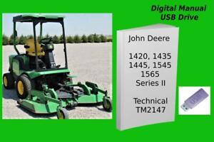 John Deere Mower 1420 1435 1445 1545 1565 Series II Diagnostic Manual TM2147