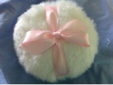 soft body or glitter powder puff, 8 inches, with light pink  bow