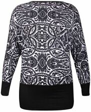 Paisley Long Sleeve Machine Washable Plus Size Tops & Blouses for Women
