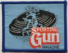SPORTING GUN MAGAZINE VINTAGE ORIGINAL WOVEN PATCH CLAY TARGET RIFLE SHOOTING