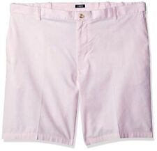 Izod Men's Newport Oxford Flat Front Casual Shorts Fairy Tale Pink Size 44x10.5
