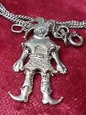 925 Sterling Silber Harlekin Hampelmann beweglich - & 925 Silberkette - A 729