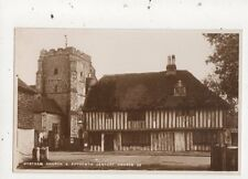 Westham Church & Houses Vintage RP Postcard 811a