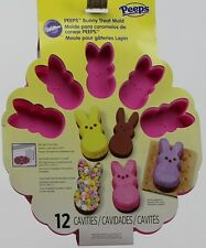 Wilton Easter Peeps Pink Bunny Treat Mold 12 Cavities 2105-4499 NWT