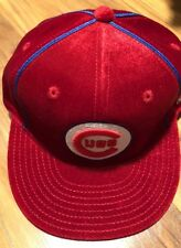 Chicago Cubs MLB American Needle Velour Red MLB Cooperstown Collection Hat 7 New