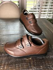 PROPET M3915 VISTA WALKER STRAP BROWN LEATHER COMFORT WALKING SHOES 9.5 3E WIDE!