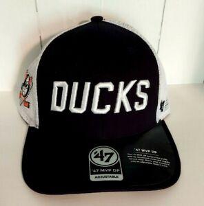Anaheim Ducks Hat '47 MVP DP Vintage Mesh Trucker Snapback Cap Vintage Logo New