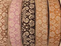 Bold damask printed 38mm grosgrain ribbon cake/gift decorating vintage ribbon